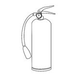 Contour fire extinguisher icon flat. Illustration Royalty Free Stock Photos