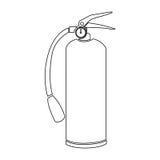 Contour fire extinguisher icon flat Royalty Free Stock Photos