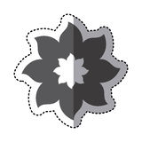 Contour flower with pointed petals icon Royalty Free Stock Image