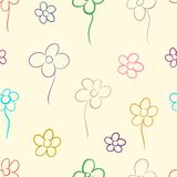 Contour of flowers Royalty Free Stock Photo