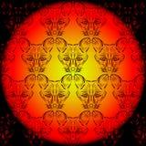 Contour foxes Stock Photo