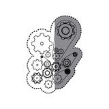 contour gears signs icon Stock Photo