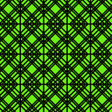 Contour Geometric Pattern on Green Background Royalty Free Stock Photography