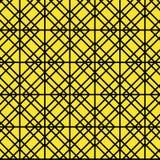 Contour Geometric Pattern on Yellow Background Royalty Free Stock Photo