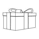 contour gift short boxes icon Royalty Free Stock Images