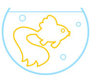 Contour gold fish Royalty Free Stock Photography