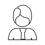 Contour half body man with suit. Illustration Royalty Free Stock Photo