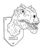 Contour head dinosaur Royalty Free Stock Photography
