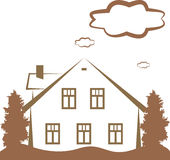 Contour of house Royalty Free Stock Photo