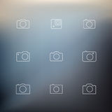 Contour icons cameras Stock Photo