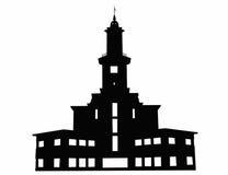 Contour of Ivano-Frankivsk town hall, Ukraine Stock Photo