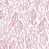 Contour leaves seamless pattern vector illustration