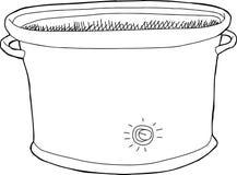 Contour lent vide de cuiseur illustration de vecteur