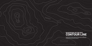 Contour line background graphic. vector illustration