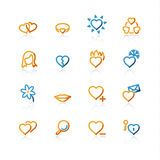 Contour love icons Royalty Free Stock Image