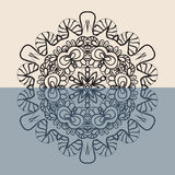 Contour Mandala Background pour la carte de voeux Images stock