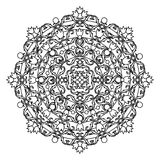 Contour, Mandala. ethnic, religious design element with a circular pattern Stock Photography