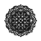 Contour, Mandala. ethnic, religious design element with a circular pattern Stock Photos