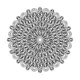 Contour, Mandala. ethnic, religious design element with a circular pattern Royalty Free Stock Photography