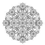 Contour, Mandala. ethnic, religious design element with a circular pattern Royalty Free Stock Photos