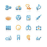 Contour medical icons Royalty Free Stock Images