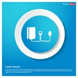 Contour medical mechanical tonometer icon Abstract Blue Web Stic. Ker Button - Free vector icon - This Vector EPS 10 illustration is best for print media, web stock illustration