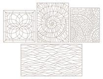 Contour met geometrische illustratie in gebrandschilderd glasstijl die wordt geplaatst vector illustratie