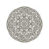 Contour, monochrome Mandala. ethnic, religious design element. Anti-paint for adults Stock Photography