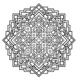 Contour, monochrome Mandala. ethnic, religious design element Royalty Free Stock Photography