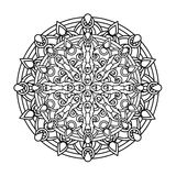 Contour, monochrome Mandala. ethnic, religious design element Royalty Free Stock Images