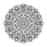 Contour, monochrome Mandala. ethnic, religious design element Royalty Free Stock Images