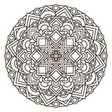 Contour, monochrome Mandala. ethnic, religious design element with a circular pattern Royalty Free Stock Image