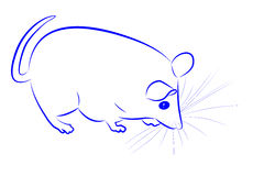 Contour of mouse Royalty Free Stock Photography