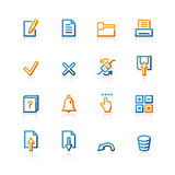 Contour notebook icons. On the white background Stock Images