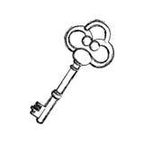 Contour old key icon stock. Illustration image design Stock Image