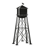 Contour of the old water tower Royalty Free Stock Images