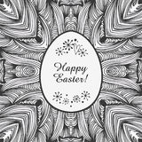 Contour ornamental lace border. Vector easter background. Original template for easter greeting card Stock Photography