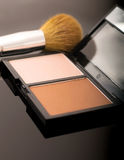 Contour palette with face brush Royalty Free Stock Photos