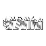 Contour pencil color icon stock Stock Images