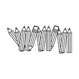 Contour pencil color icon stock. Illustration design image Royalty Free Stock Photography