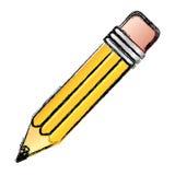Contour pencil icon stock. Illustrtion design image Stock Photos