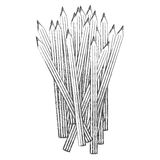 Contour pencils color icon. Illustraction design image Royalty Free Stock Photography