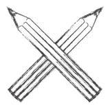 Contour pencils color icon. Illustraction design image Stock Photos