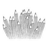 Contour pencils color icon. Illustraction design image Stock Image