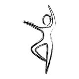 Contour person dancing icon Stock Photography