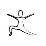 Contour person practicing dancing. Icon,  illustraction design image Stock Photos