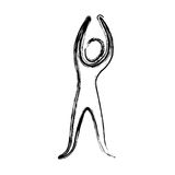Contour person stretching icon. Illustraction design image Royalty Free Stock Image