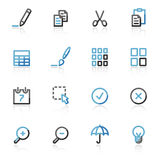 Contour publish web icons Royalty Free Stock Images