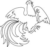Contour of a rooster Royalty Free Stock Image