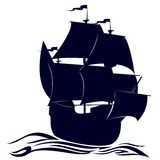 Contour of a sailing ship Royalty Free Stock Photos